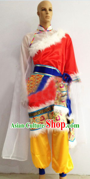 Chinese Stage Performance Tibetan Dance Costumes for Men