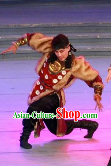 Traditional Chinese Mongolian Clothing for Men