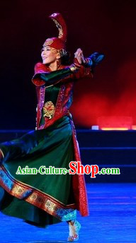 Traditional Chinese Mongolian Minority Outfit for Women