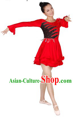Latin Ballroom Dance Costume Dresses for Women