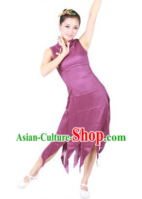 Han Minority Cheongsam Style Dance Costumes for Women