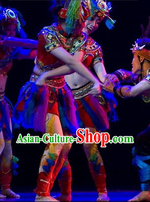 Ancient Chinese Tribe Dance Costumes for Women