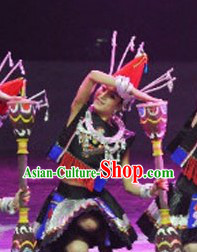 Yao Ethnic Dance Costumes for Women
