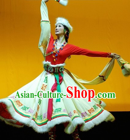 Traditional Chinese Tibetan Xinzang Dress for Women
