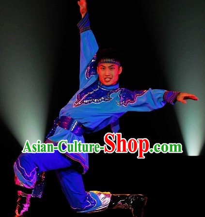 Traditional Chinese Mongolian Festival Celebration Outfit for Men