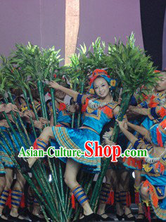 Ge Mo Shao Nv Ethnic Minority Dance Costumes for Girls