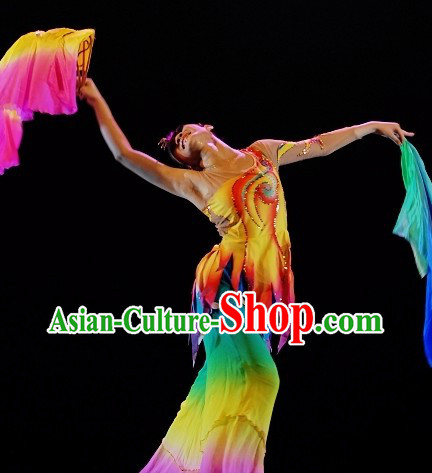 Traditional Chinese Classic Dance Costume and Headwear for Women