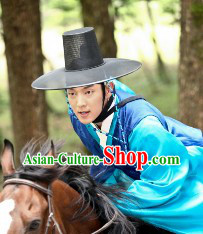 Ancient Korean Ceremonial Black Hat for Men