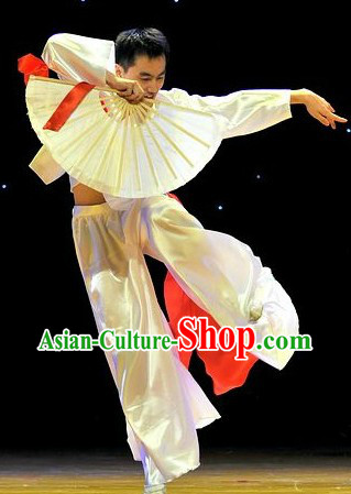 Traditional Chinese Fan Dance Costumes for Men
