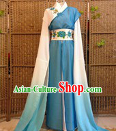 Ancient Water Sleeves Colour Transition Chinese Classical Dance Costumes for Women
