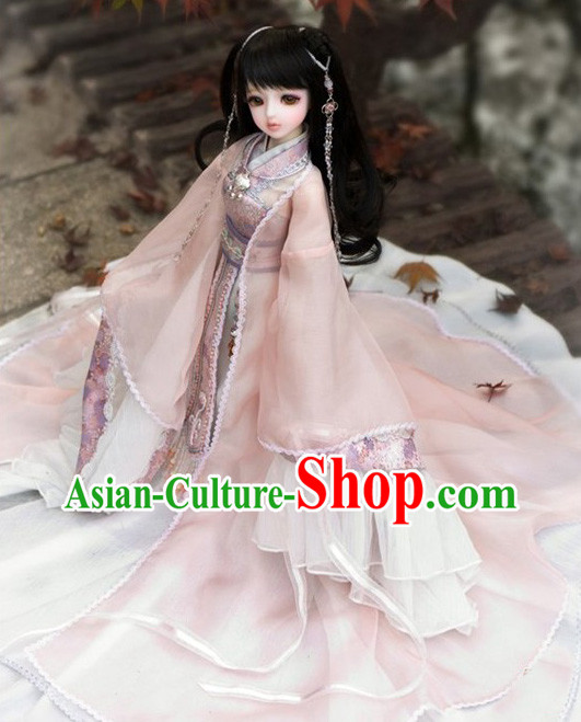 Ancient Chinese BJD Costumes and Hair Accessories for Real Adults