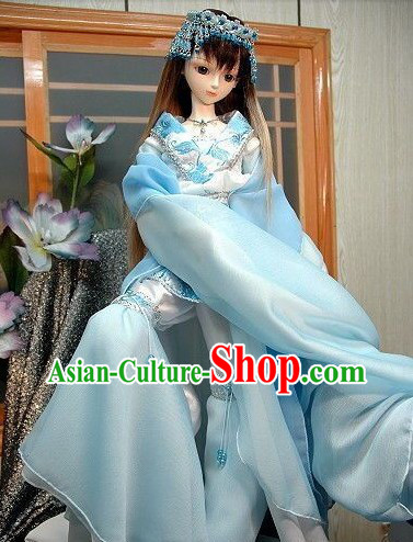 Ancient Chinese BJD Cosplay Talented Dancer Costumes and Hair Accessories for Women