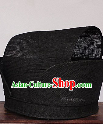 Ancient Chinese Qin and Han Dynasty Black Hat for Men