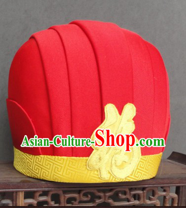 Ancient Chinese Fortune God Hat for Men