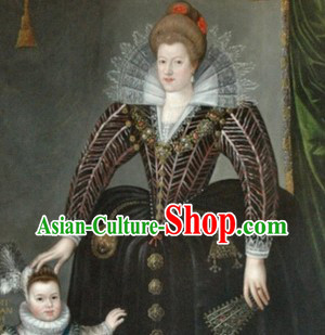 Ancient European Palace Nobleman Traditional Clothes for Women