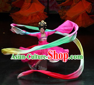 Ancient Chinese Tang Dynasty Empress Ribbon Dance Costumes for Women
