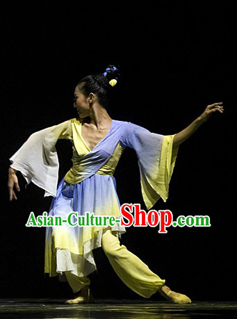 Chinese Classic Dance Costumes Complete Set for Women