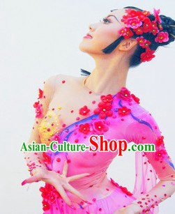 Stage Performance Classical Dance Costumes and Headwear Complete Set for Women