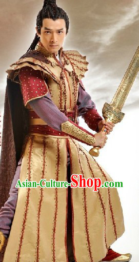 Ancient Chinese Swordsmen Costumes Complete Set for Men