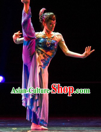 Ancient Chinese Classical Dance Dress Complete Set for Women