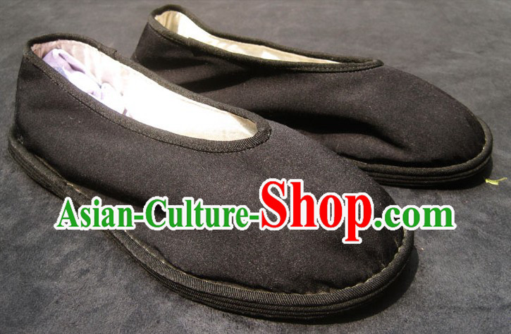 All Handmade Chinese Black Thick Sole Cotton Shoes