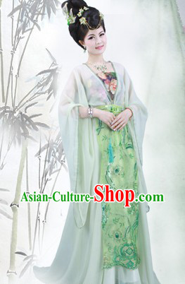 Ancient Chinese Tang Dynasty Princess Outfit Complete Set for Women