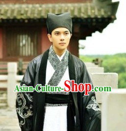 Traditional Ancient Chinese Black and White Hanfu Clothes for Men