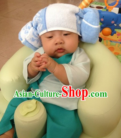 Traditional Ancient Chinese Birthday Clothes for Babies