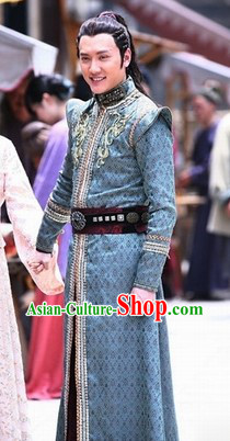 Ancient Chinese King of Lanling Costumes Complete Set for Men