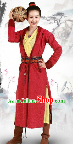 Ancient Chinese Swordman Costumes Complete Set for Men