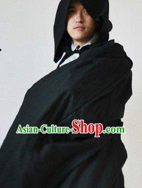 Traditional Ancient Chinese Black Mantle for Men