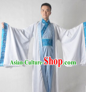 Traditional Ancient Chinese Poet Li Bai Hanfu Clothes for Men