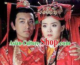 Ancient Chinese Wedding Headpieces for Brides and Bridegrooms