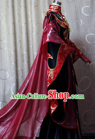 Ancient Chinese Empress Outfit with Long Trail