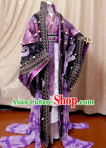 Ancient Chinese Imperial Emperor Cosplay Outfits Complete Set