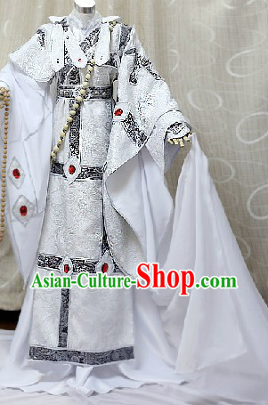Ancient Chinese Monk Cosplay Costumes Complete Set