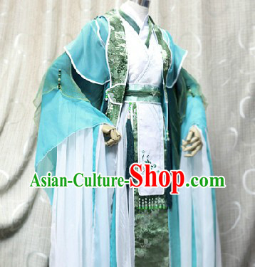 Ancient Chinese Teacher Cosplay Costumes Complete Set
