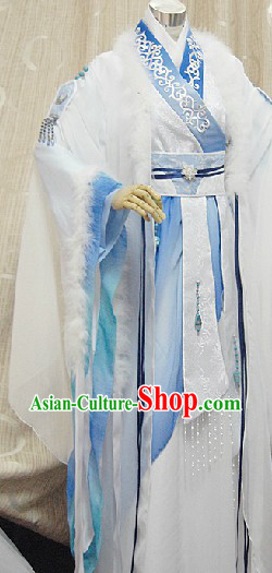 Ancient Chinese School Teacher Cosplay Costumes Complete Set