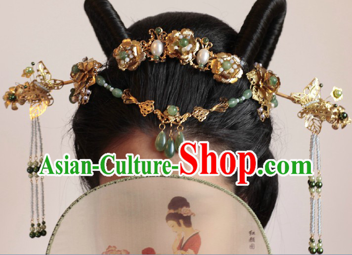 Ancient Chinese Ceremonial Traditions and Customs Hair Accessories Complete Set