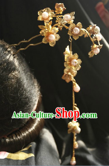 Ancient Chinese Handmade Hair Accessory with Long Tassels