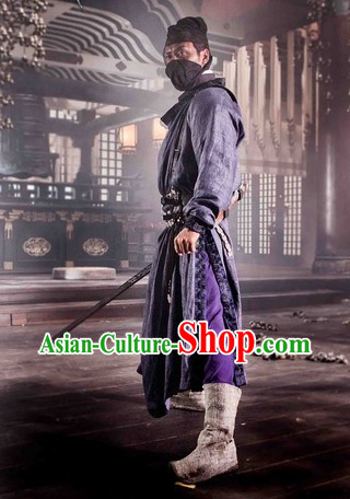 Tang Dynasty Government Police Official Costumes and Hat for Men