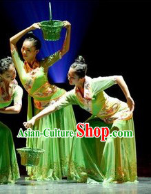 Mulberry Leaf Harvest Stage Performance Dance Costumes Suit for Womn