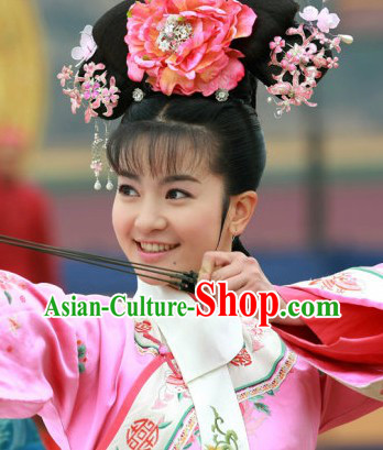 Qing Dynasty Imperial Palace Royal Princess Headpieces Complete Set