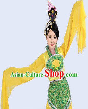 Long Sleeves Chinese Ancient Dance Costumes for Women