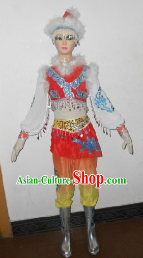 Mongolian Costumes and Hat Complete Set for Children
