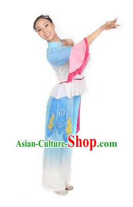 Traditional Chinese Yang Ge Fan Performance Costumes