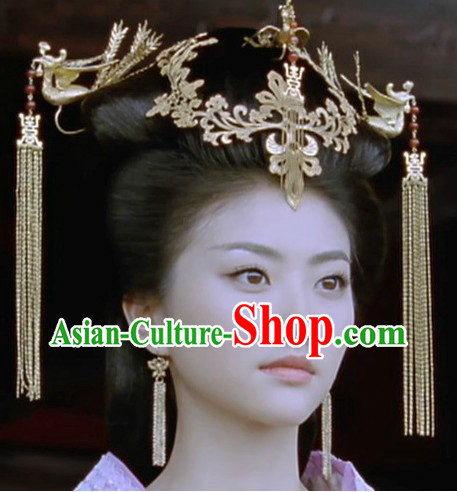 Ancient Chinese Empress Phoenix Hairpins and Tassels