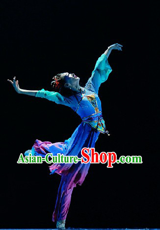 Chinese Folk Style Stage Ready Competition and Performance Dance Costumes for Women