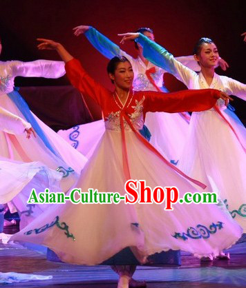 Korean Ethnic Stage Performance Dance Costumes for Women