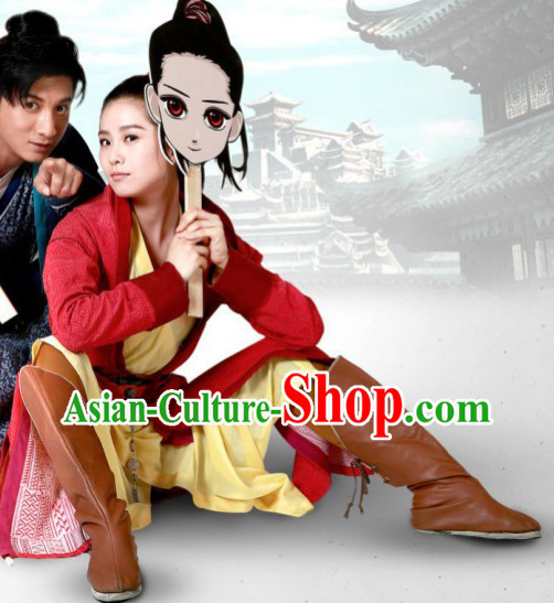 Ancient Mandarin Swordwoman Costumes Complete Set